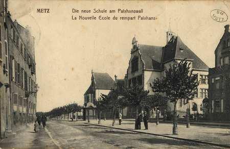 Metz. la Nouvelle Ecole du Rempart Paixhans. Die Neue Schule am Paixhanswa…