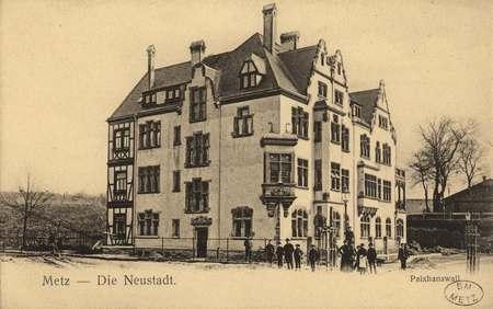 Metz. Die Neustadt. Paixhans Wall