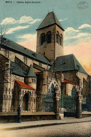 Metz. Église St. Eucaire.
