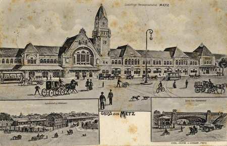 Gruss aus Metz. Zukunfliger Personenbahnhof Metz