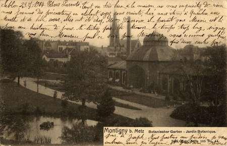 Montigny-lès-Metz. Botanischen Garten. Jardin botanique