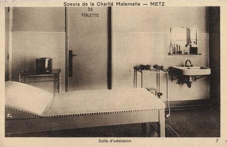 Sœurs de la Charité maternelle - Metz - Salle d'admission
