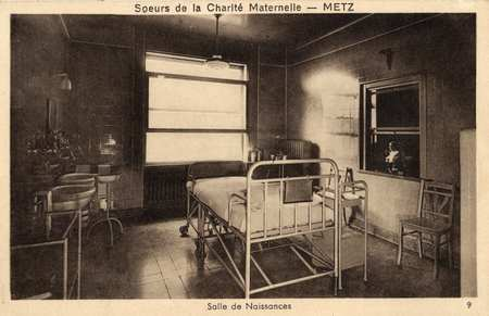 Sœurs de la Charité maternelle - Metz - Salle des naissances