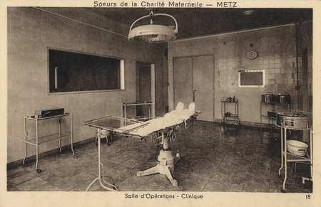 Sœurs de la Charité maternelle - Metz - Salle d'Opérations - Clinique