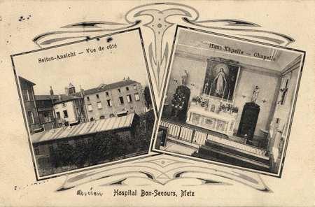 Hospital Bon-secours, Metz Vue de côté-Chapelle
