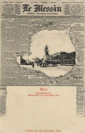 Le Messin - Metz Ney-Denkmal. Monument dumaréchal Ney