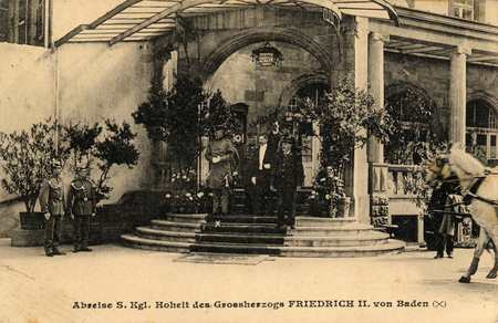 Abreise S. Kgl. Hoheit des Grossherzogs Friedrich H. von Baden