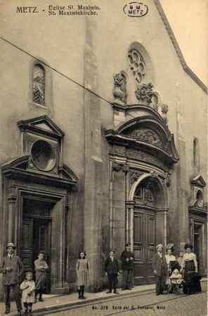 Metz. - Eglise St Maximin.