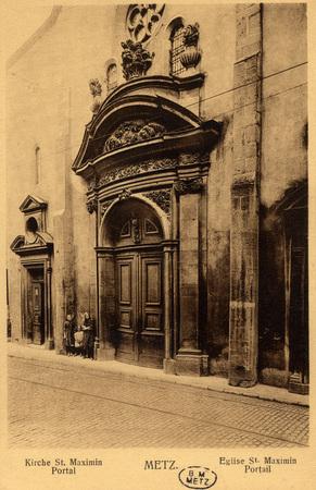 Kirche St. Maximin Portal - Metz.