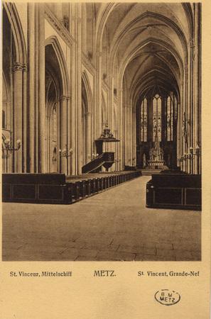 St. Vincenz, Mittelschiff - Metz.