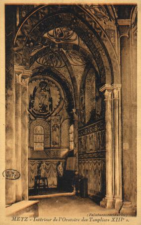 Metz - Intérieur de l'Oratoire des Templiers XIIIe s.
