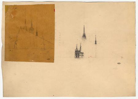 Section des tours de la cathédrale de Metz