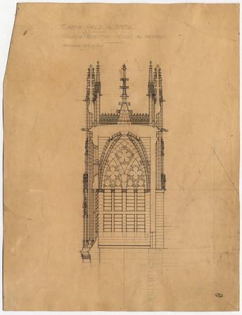 Cathédrale de Metz. Tour du chapitre. Etage du beffroi