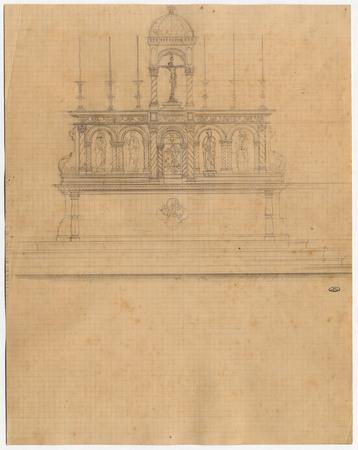 Dessin d'un autel pour la cathédrale de Metz