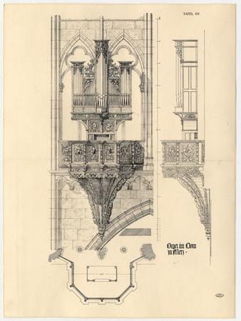 Croquis d'orgue pour la cathédrale de Metz