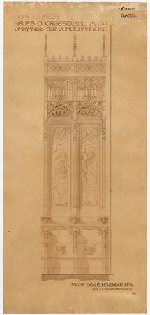 Cathédrale de Metz. Nouvelle variante des chaises du chœur