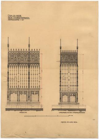 Cathédrale de Metz. Nouvelle clôture du chœur