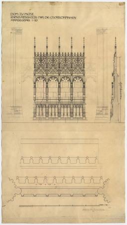 Cathédrale de Metz. Esquisse pour la clôture du chœur