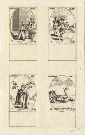 Les images des saints: Cinquante-neuvième planche. Juillet