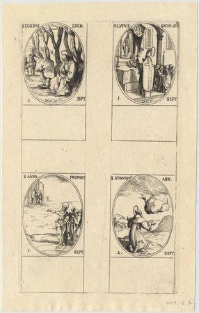 Les images des saints: Soixante-dix-septième planche. Septembre