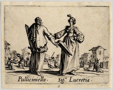Balli di Sfessania : Pulliciniello, signora Lucretia