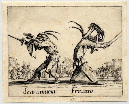Balli di Sfessania : Scaramucia, Fricasso