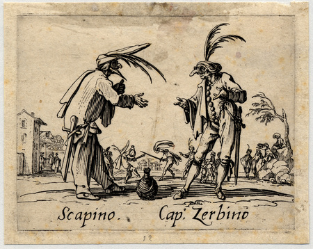 Balli di Sfessania : Scapino, Capitaine Zerbino