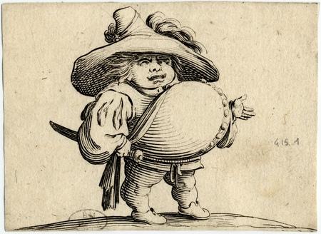Les Gobbi: L'homme au gros ventre orné d'une rangée de boutons
