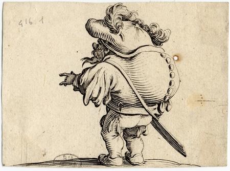 Les Gobbi: L'homme au gros dos orné d'une rangée de boutons