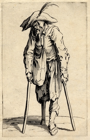 Les Gueux: Le mendiant à la jambe de bois