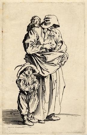 Les Gueux: La mère et ses trois enfants