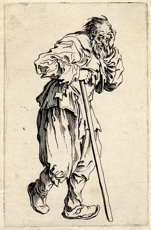 Les Gueux: Le gueux appuyé sur son bâton