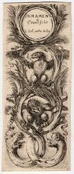 Ornamenti o grottesche: En bas, deux têtes de lions ayant au lieu du corp…