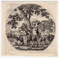 La famille du satyre en marche, premier état avant la lettre