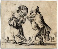 Facétieuses inventions d'amour et de guerre: Un vieux nain avec des bésic…