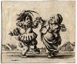 Facétieuses inventions d'amour et de guerre: Un jeune nain danse avec une…
