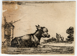 Agréable diversité de figures: L'âne qui se repose