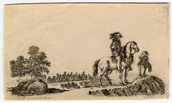Diverse figure e paesi: Le cavalier égaré qui demande son chemin
