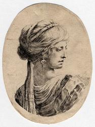 Plusieurs têtes coifféees à la persienne: Sultane vue par le dos et dont …