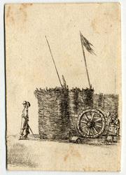 Recueil de diverses pièces très nécessaires à la fortification: Un canon …