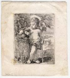 Saint Jean-Baptiste enfant, appuyé sur son agneau