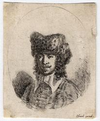 Diverses têtes et figures: Tête d'homme dans un ovale