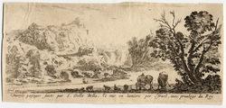 """""""Diverses paysages faicts par S. Della Bella et mis en lumière par Israel,…"""