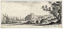 Divers paysages: Les barques sur le bord de la mer
