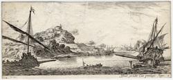 Divers paysages: Les deux galères et les deux chaloupes