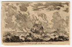 Vues de ports de mer: Navire ordinaire qui passe du Douvre à Calais