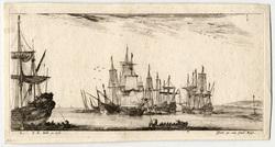 Divers embarquements: Plusieurs vaisseaux en rade