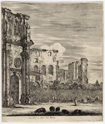 Six grandes vues, dont quatre de Rome et deux de la campagne romaine: L'a…