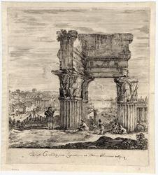 Six grandes vues, dont quatre de Rome et deux de la campagne romaine: Le …