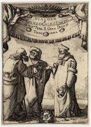 Frontispice de Dialogo di Galileo Galilei